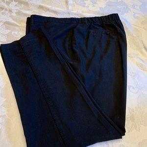 Black polyester maternity pants